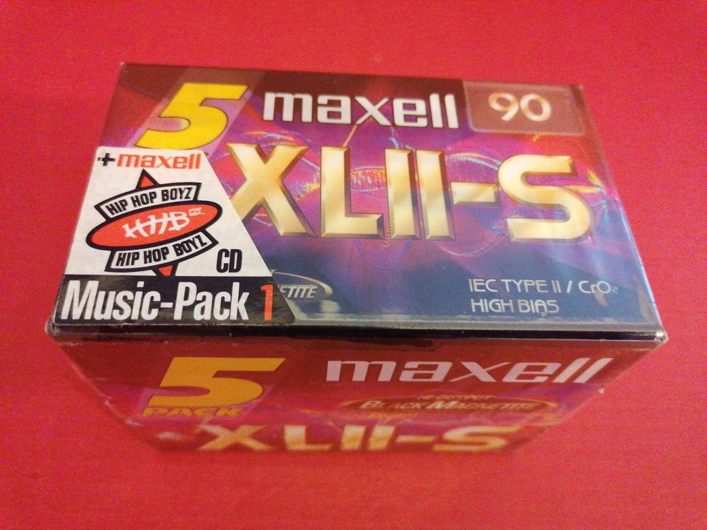 MAXELL XL II S 90_5 PACK, FOLIA_CHROM+CD