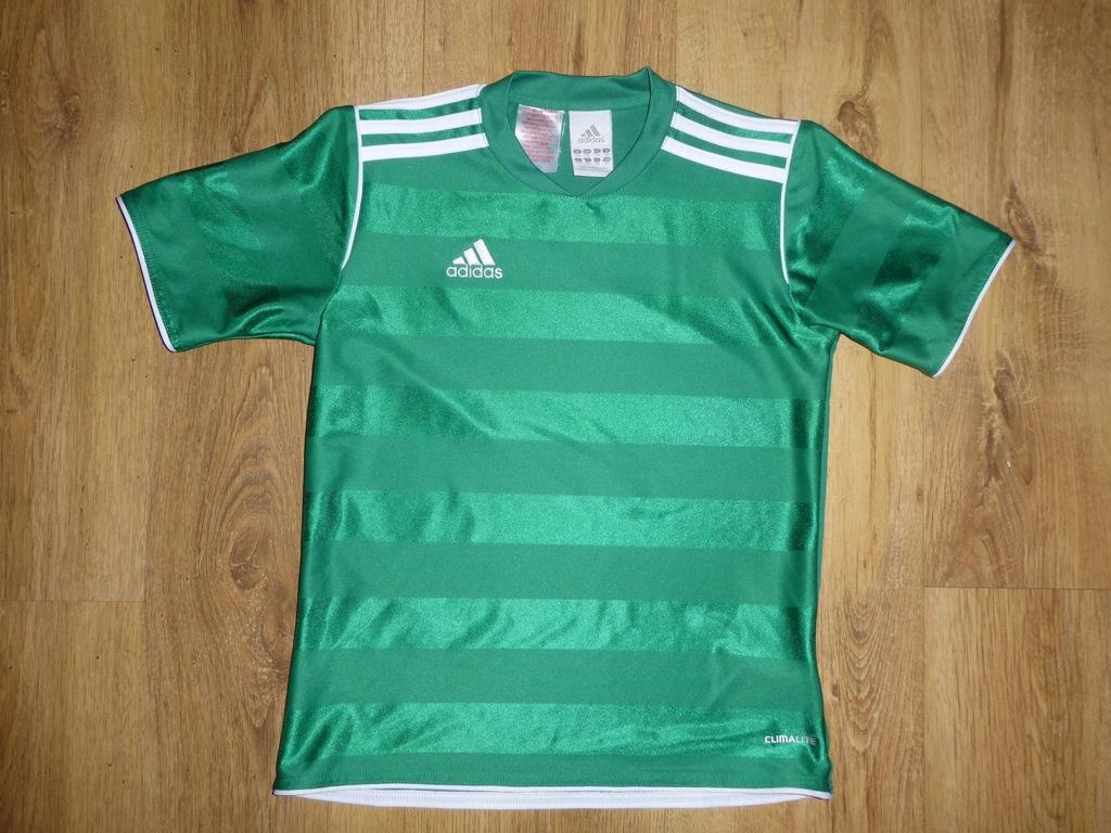 Spoortowa zielona koszulka t-shirt Adidas 2XS 140