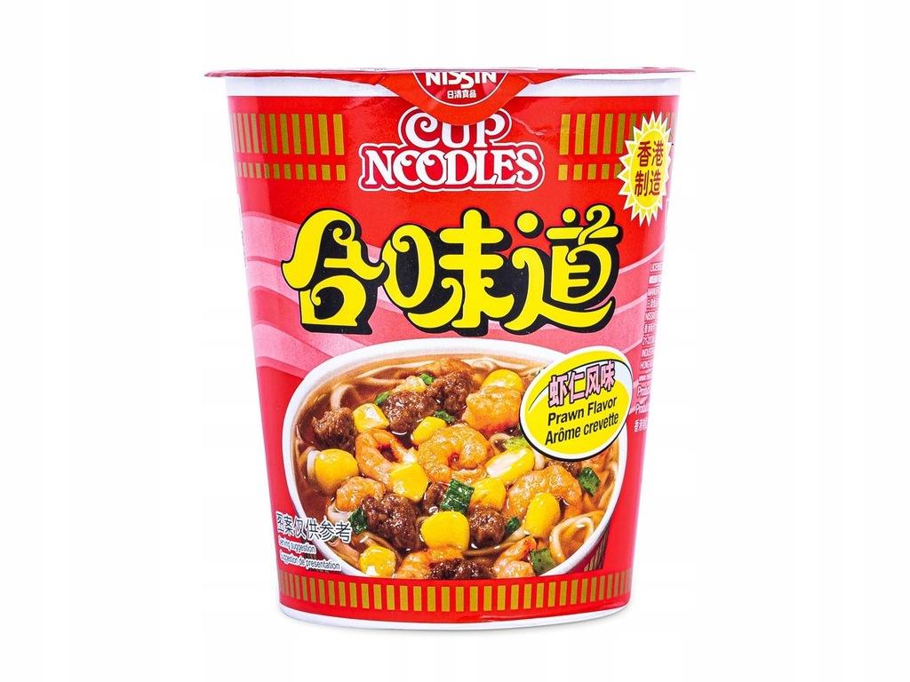 Nissin Cup Noodles Ramen o Smaku Krewetkowym 73g