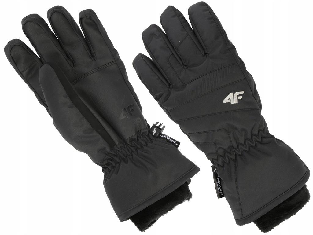 Rękawiczki narc. damskie 4F 19 RED003 czarne L