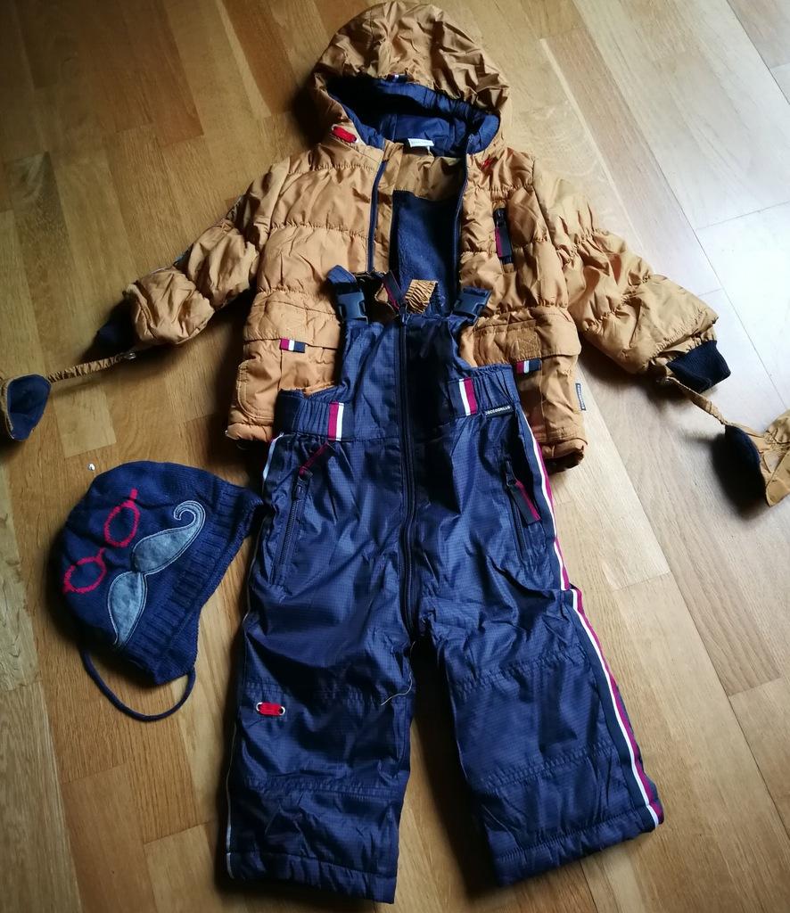 Zimowa kurtka i spodnie Coccodrillo rozm. 80