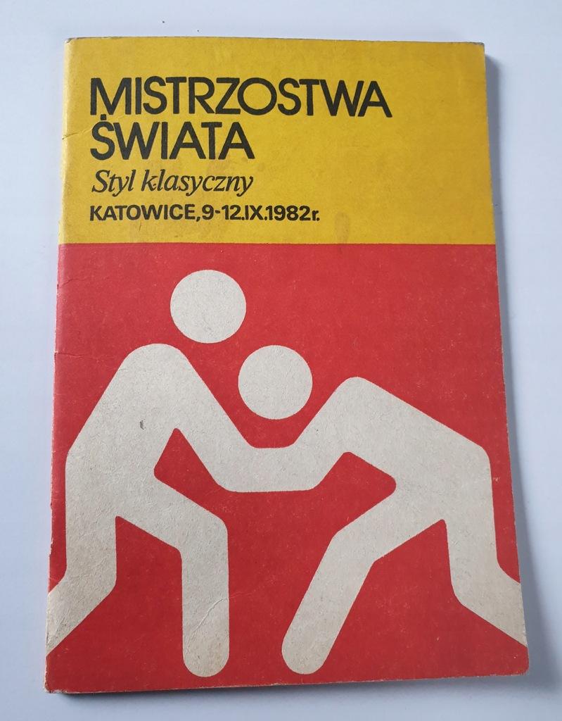 PROGRAM M.Ś. W ZAPASACH STYL KLAS. KATOWICE 1982
