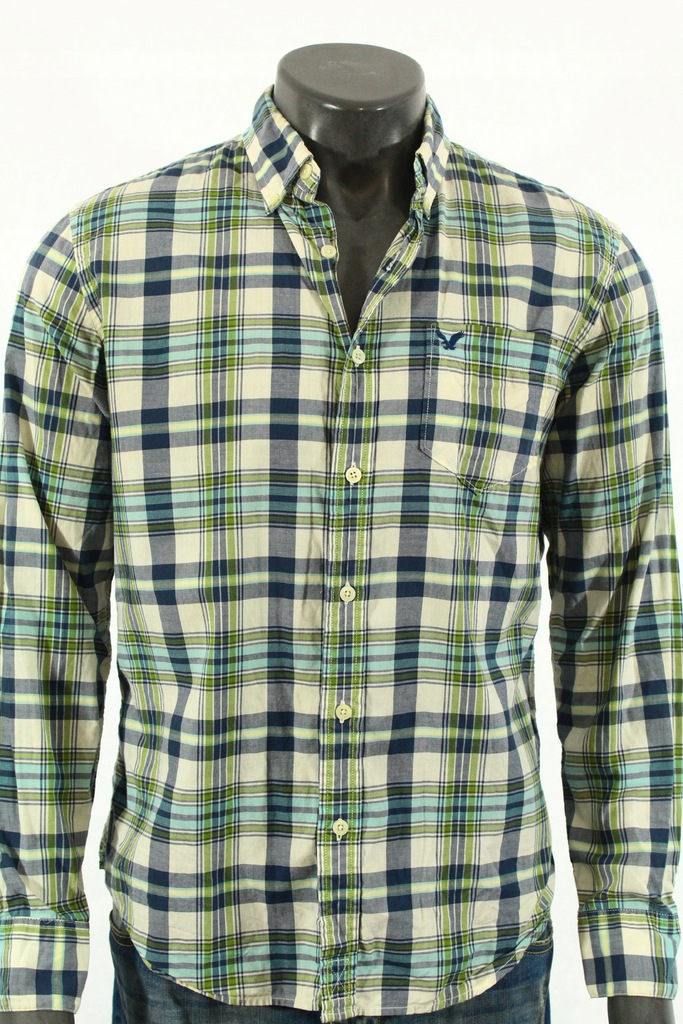 AMERICAN EAGLE Koszula logowana do jeansów! M 8394706680  1RsKA
