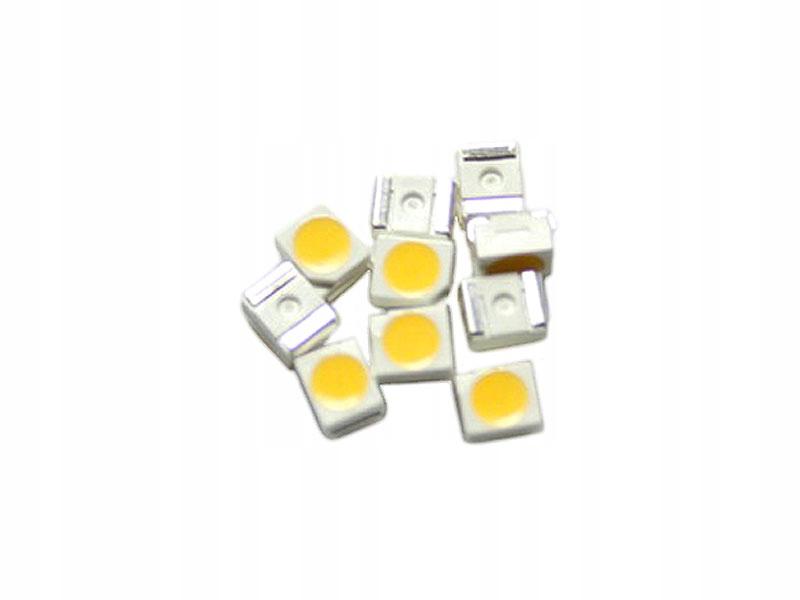 Dioda LED SMD 3528 7000K biała zimna - 50szt
