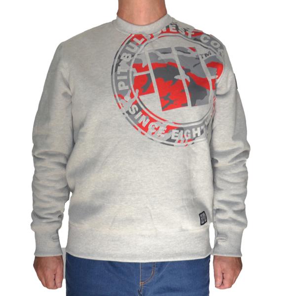 Sweatshirt Bluse Bluza Pit Bull West Coast MMA KSW Eighty Nine Logo Grey Szara