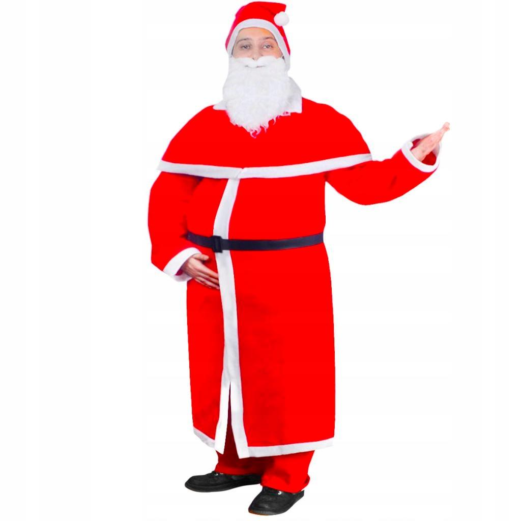 Strój Świętego Mikołaja z płaszczem