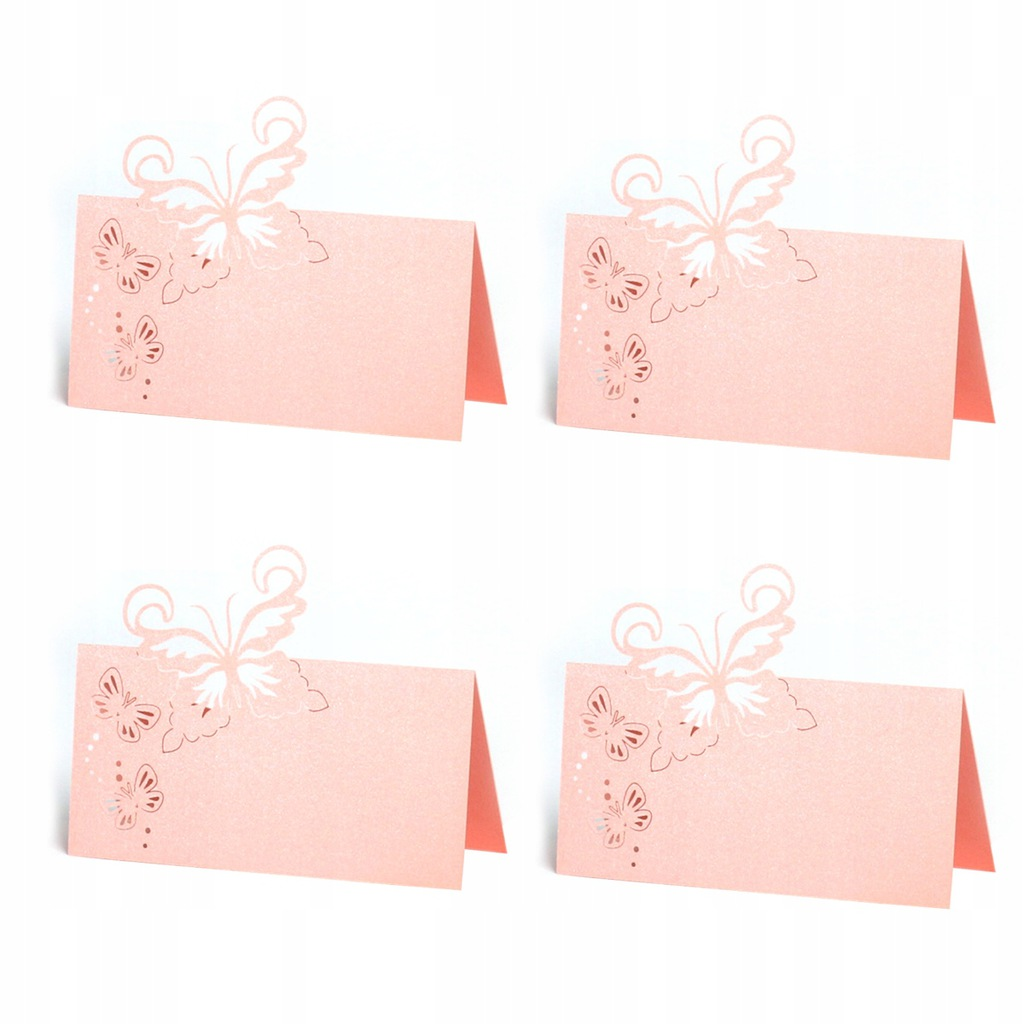 50pcs Butterfly Pattern Hollow Cut Table Cards Wed