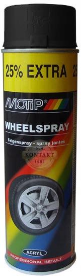 Akrylowy lakier do felg Motip czarny połysk spray