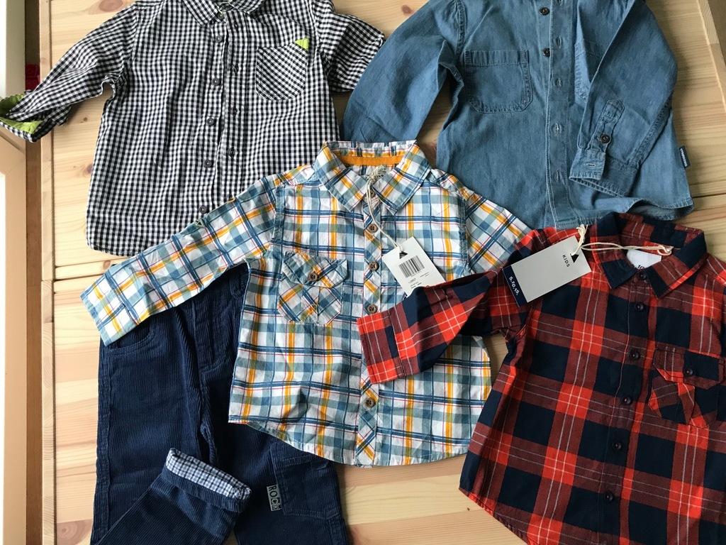 Coccodrillo 5.10.15. rozmiar 92 koszule i spodnie