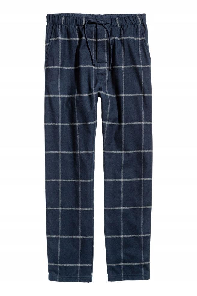 H&M Spodnie piżamowe z bawełny rozm. M