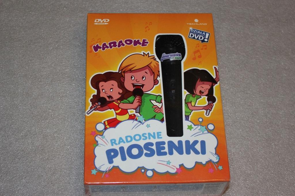 KARAOKE RADOSNE PIOSENKI + MIKROFON PC PL NOWE