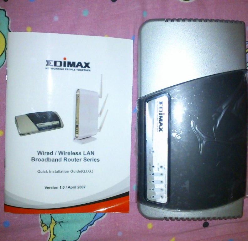 Router Edimax BR 6104k brak kabla zasilającego