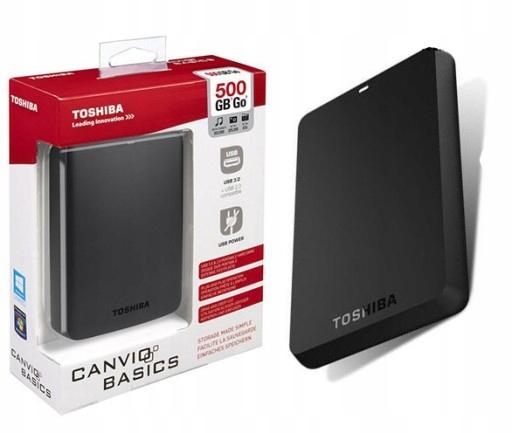 Dysk Zewnetrzny Toshiba Canvio Basics 500gb Usb3 0 9417753886 Oficjalne Archiwum Allegro