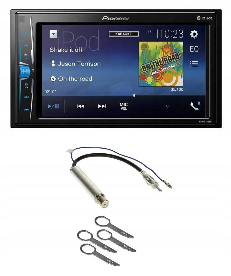 Pioneer Radio MVH-A200VBT 2DIN Bluetooth mit Einbauset f/ür VW Passat B5//3B B5//3BG 1996-2005