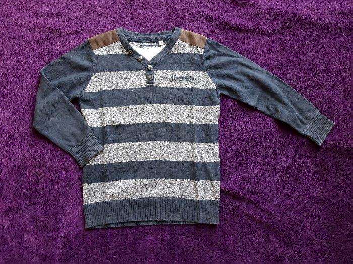 C&A Elegancki sweter chłopięcy w pasy 122
