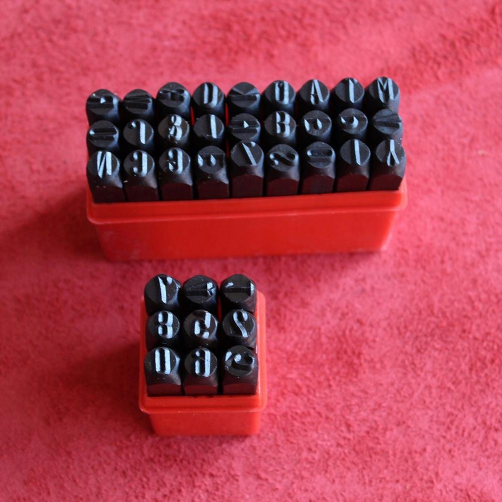 36 SZTUK 2mm Liczba liter Stalowa pieczęć Numer al