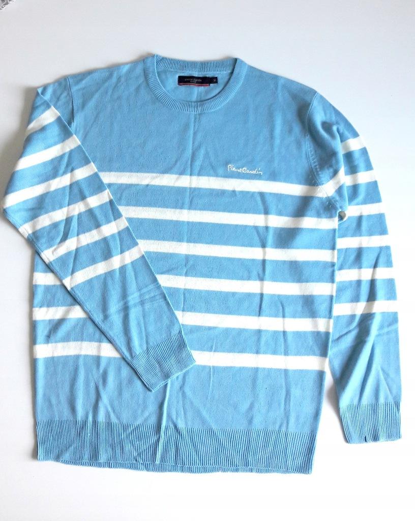 PIERRE CARDIN klasyczny męski sweter w paski M