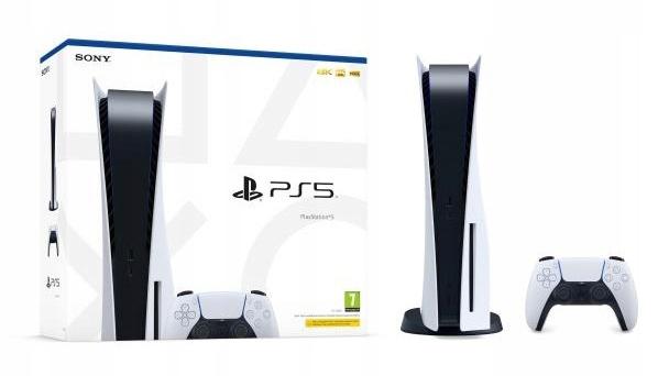 Konsola Sony PlayStation 5 ( 825 GB ) Pad + BluRay