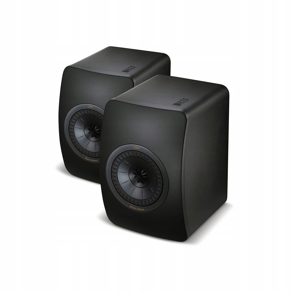 Kef LS50 czarny + czarny UniQ