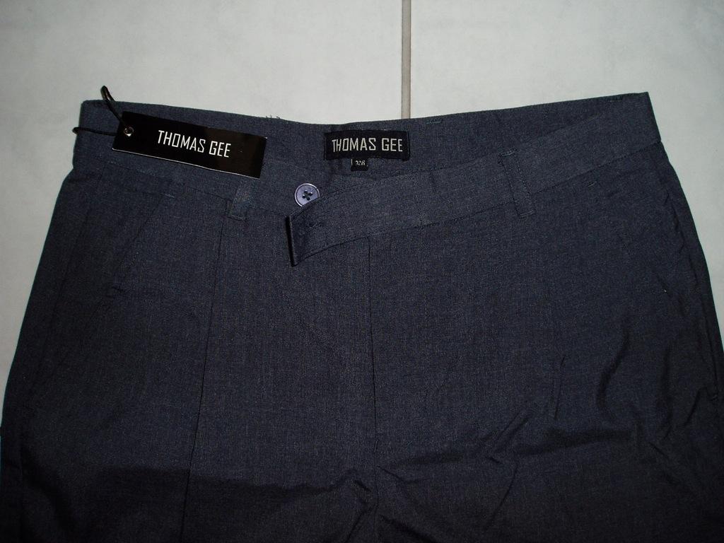 THOMAS GEE - nowe spodnie z zakładkami/32