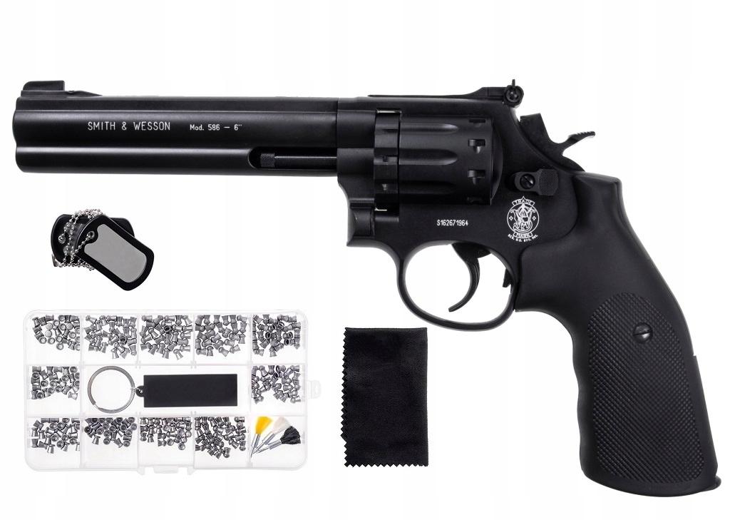 Wiatrówka rewolwer Smith Wesson Mod. 586 ZESTAW