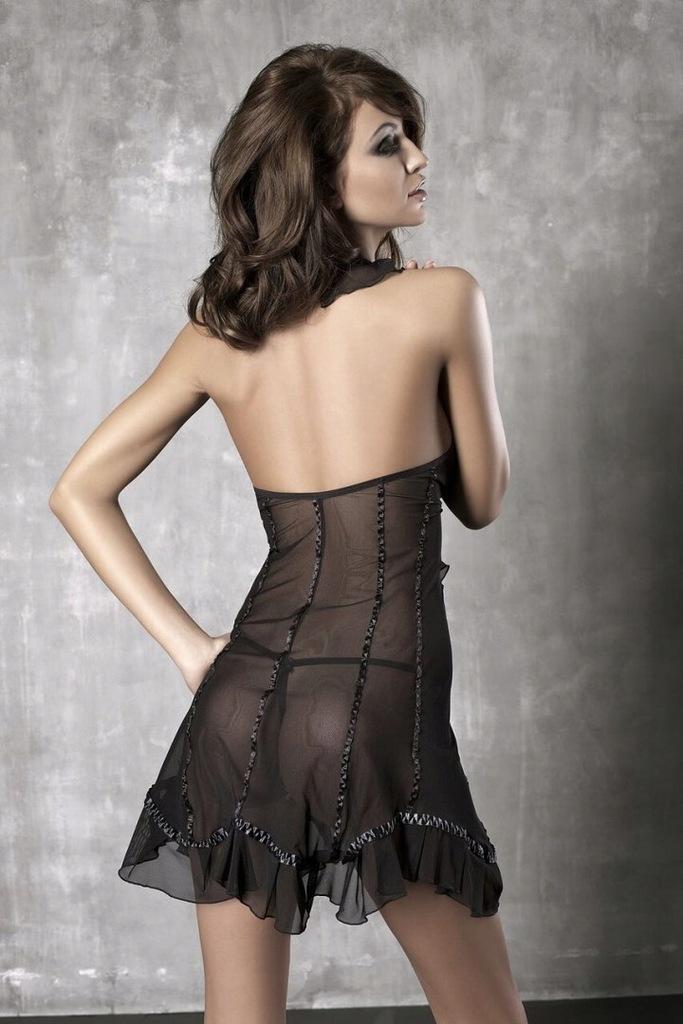 Bielizna-Seduce Me black chemise XL (czarna halka)