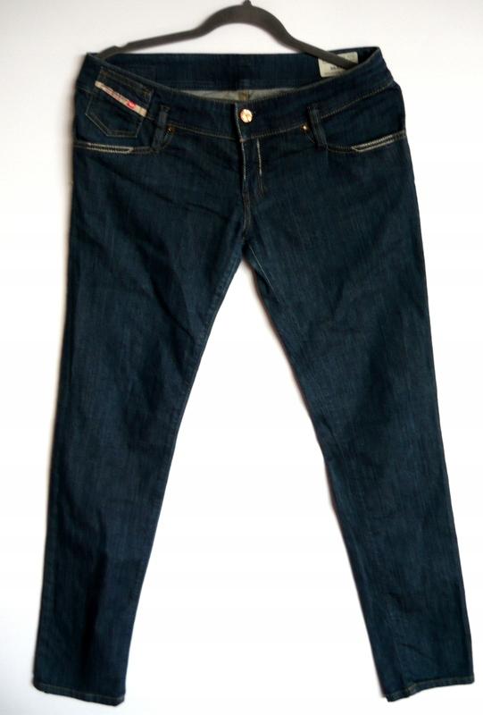 DIESEL*SUPER spodnie jeansy rurki*31/32