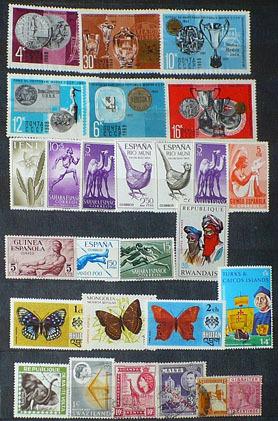 Zestaw znaczków - różne kraje
