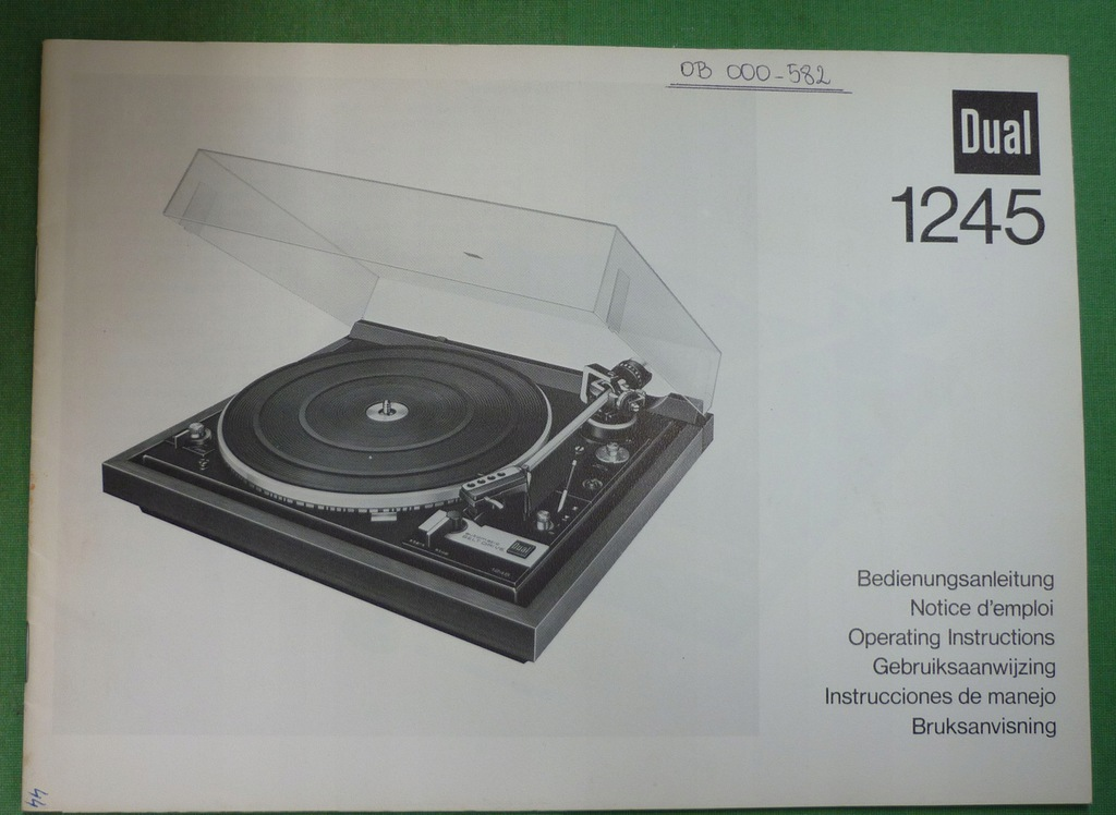 gramofon Dual 1245 Instrukcja Obsługi