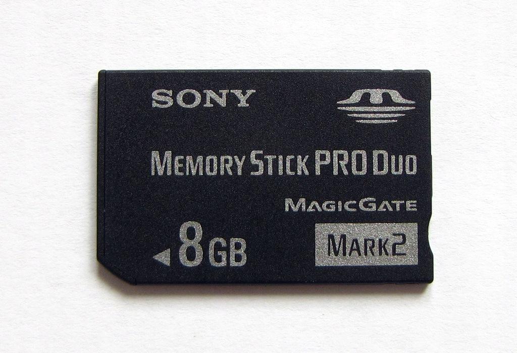 KARTA PAMIĘCI SONY 8GB MEMORY STICK PRO DUO MARK2