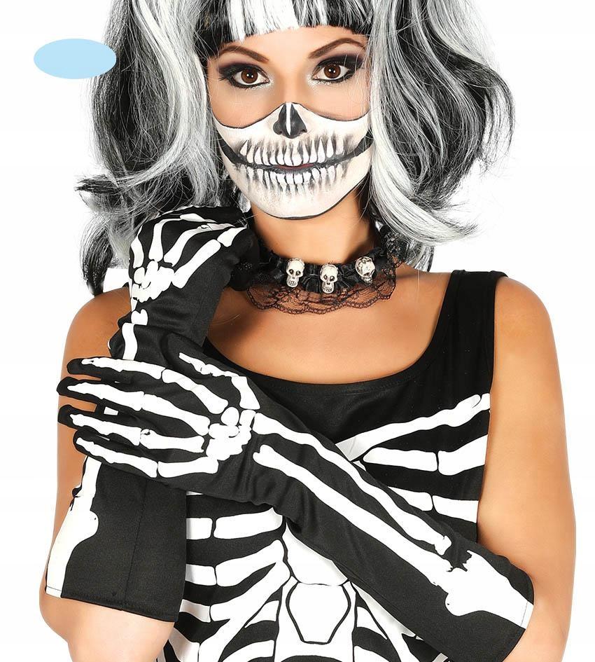 Rękawiczki szkieletor 40cm na Halloween party
