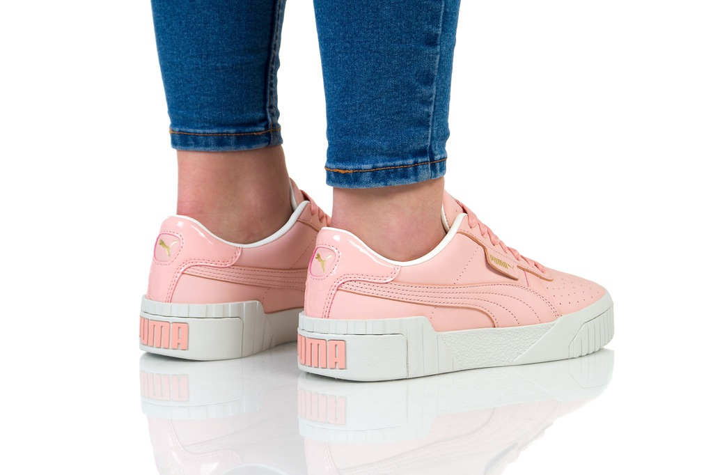 Buty damskie sneakersy Puma Cali Nubuck 369161 03 | CZARNY