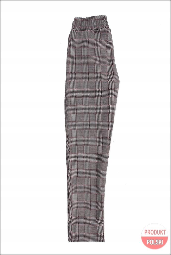 ELEGANCKIE Spodnie dziewczęce KRATA 152 cm Prod.PL