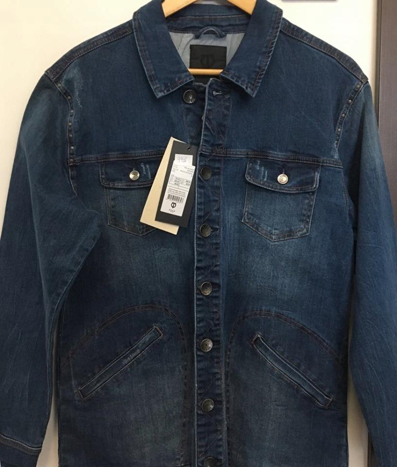 Pulz bluza jeansowa długa rozm L/XL