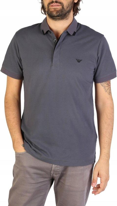 Koszulka polo męska EMPORIO ARMANI 9P461 szara XXL