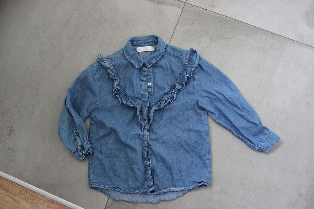 ZARA koszula jeansowa falbanka zabot 8 128
