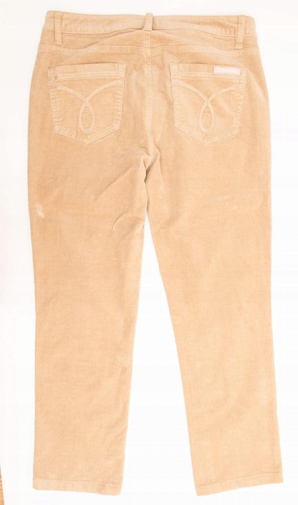 Calvin Klein Spodnie Stretch Sztruksy Męskie 10
