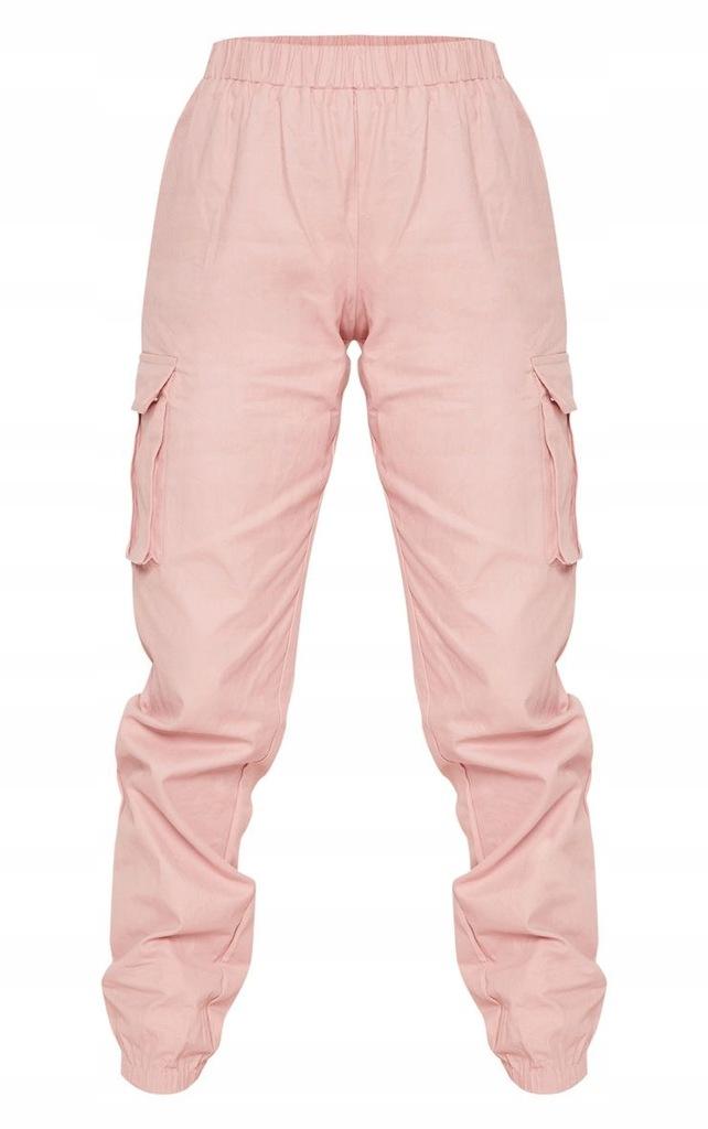 PrettyLittleThing Różowe Spodnie Cargo XS34