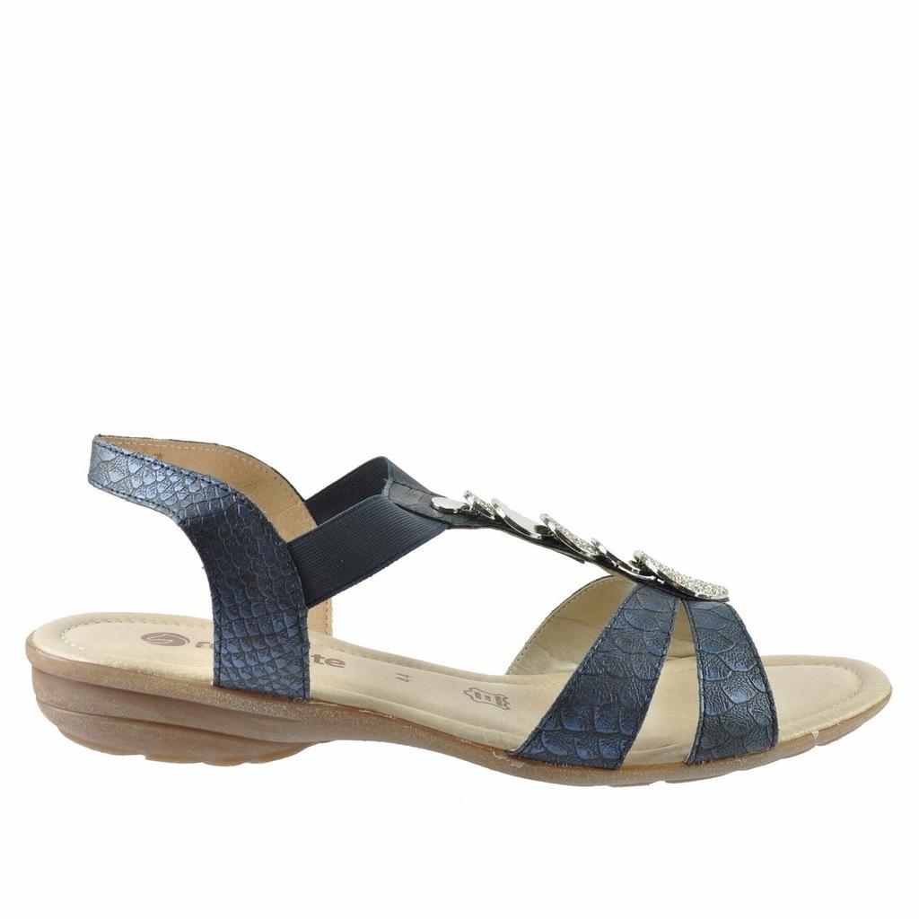 Duże sandały damskie Remonte R8756 31 różowe 43