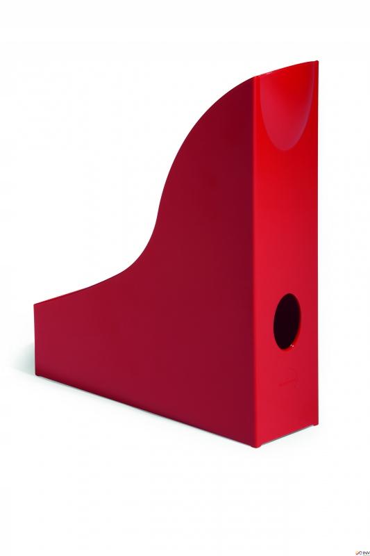 Pojemnik na czasopisma BASIC A4 czerwony DURABLE 1