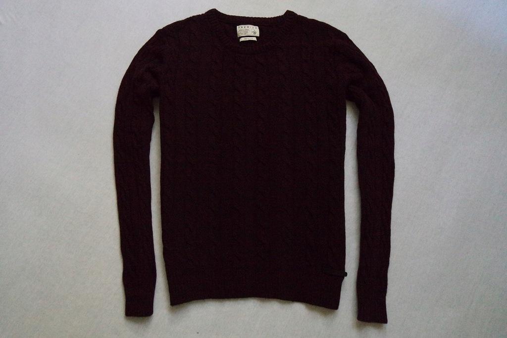 JACK&JONES sweter sweterek melanż WEŁNA_____XL