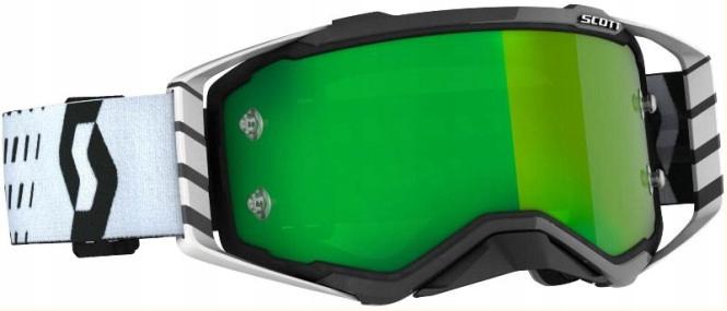 GOGLE SCOTT PROSPECT BLACK/WHITE/GREEN CHROME