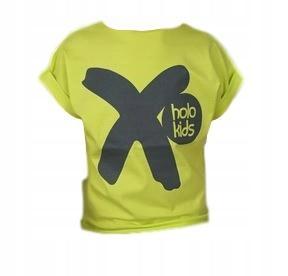 Holo kids koszulka t-shirt żółta szara iks 128