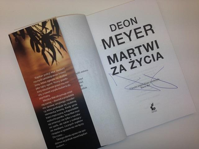 MARTWI ZA ŻYCIA z autografem DEONA MEYERA!