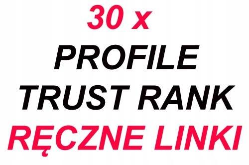 30 x PROFILE TRUST RANK BARDZO WYSOKIE DA
