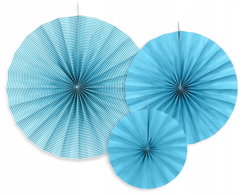 Rozety dekoracyjne 3 szt., niebieski