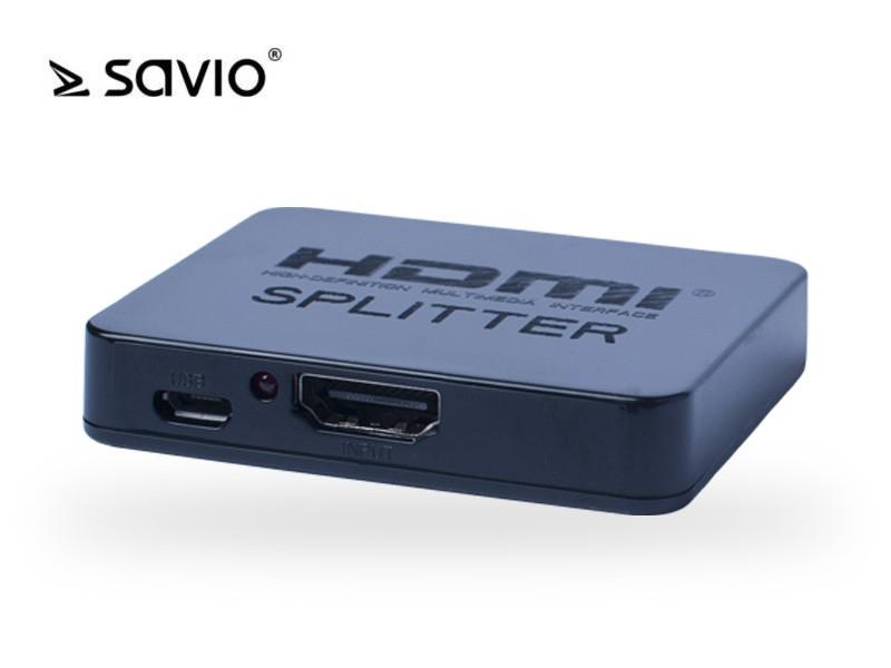 SAVIO CL-93 Splitter HDMI na 2 odbiorniki, 4K,,