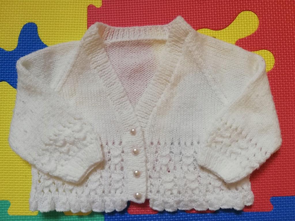 Sweterek bolerko retro vintage 3-6 m. ok 68 unikat