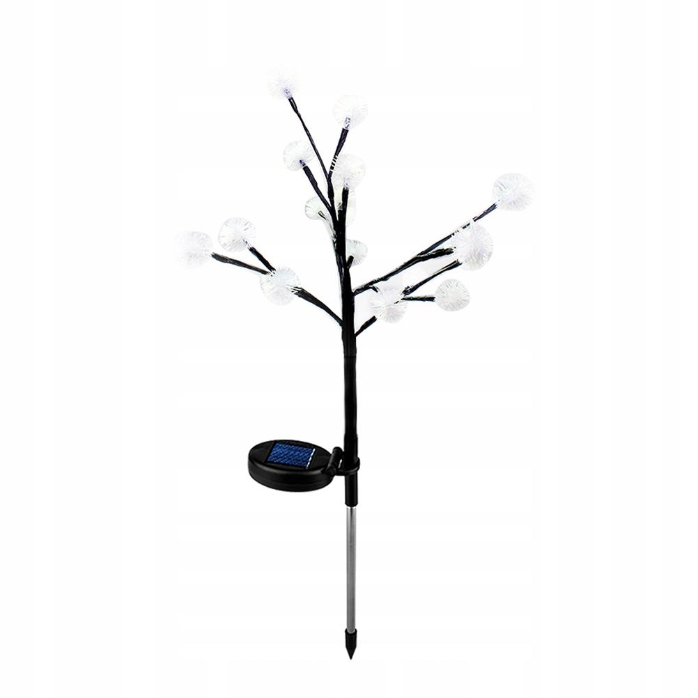 LED Solar Drzewo Lekkie gałęzie Liście Trawniki Na