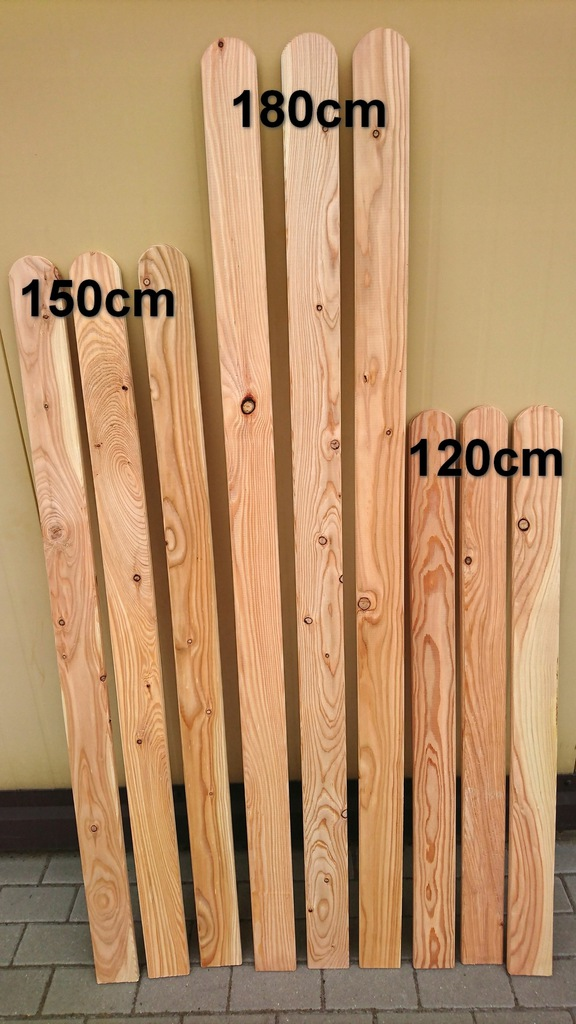 Sztacheta drewniana modrzew 2x9x180cm płotek